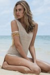 Apricot-Sexy-Summer-Keyhole-Beachwear-with-Slit-LC41114-1