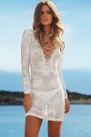 White-Long-Sleeve-Knitted-Tunic-Beachwear-LC41124